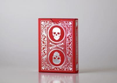 Skull & Bones Red/Silver