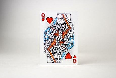 Pollock Artistry custom playing cards queen art