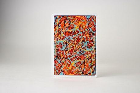 Pollock Artistry custom playing cards backside of single card art.