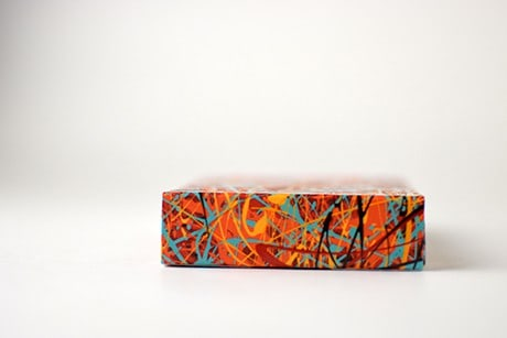 Pollock Artistry custom playing cards bottom side view.