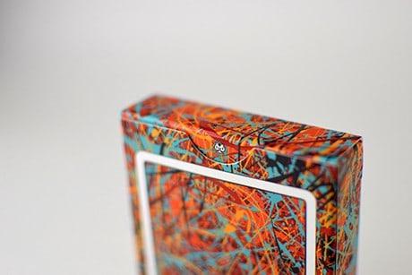Pollock Artistry custom playing cards deck sleeve opening slit.