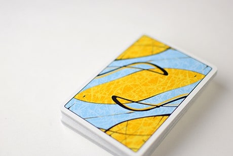 Pollock Cardistry custom playing cards full deck of cards photograph.